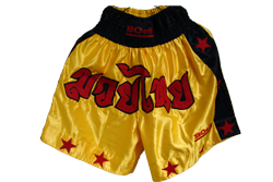 Siam No1 Yellow Shorts_Satin
